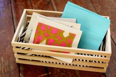 Make your own stationery set-love this :)