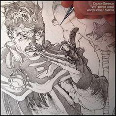 Doctor Strange: New Cover art for Marvel | WIP pencil detail #andybrase #pencil #drawing #wip #doctorstrange #marvel #comics #coverart #sorcerersupreme #darkfantasy #magic by andybrase_art