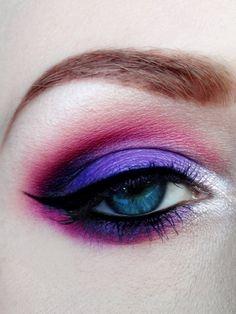 Purple and maroon  #eyes #eye #makeup #smokey #bright #dramatic