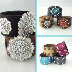 ARRIVING THIS WEEK! Be the Envy of all when you wear one of these gorgeous leather cuffs!