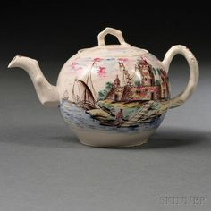 Staffordshire Salt-glazed Stoneware Teapot