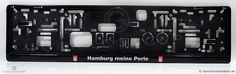 Kennzeichenhalter, Nummernschildhalterung (Epoxy/Doming) mit Digitaldruck mit nach Kundenvorstellung bedruckter Werbefläche. Halterung EU-Norm 520x110mm. Realisierung GurilConcept - www.kennzeichenhalter.de