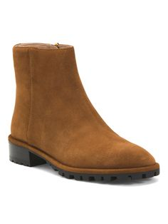 Suede Lug Sole Boots - Women - T.J.Maxx Office Storage, Boots Women, Tj Maxx, Chunky Heels, Chelsea Boots, Active Wear, Ankle Boots, Stylish, Fashion Design