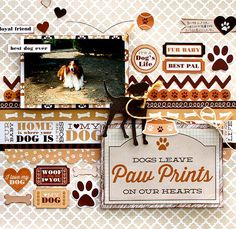 """""""Best Pal"""" Layout by Kaori Fujimoto for Kaisercraft 'Furry Friends' collection ~ Scrapbook Pages 3."""
