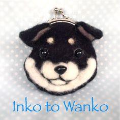 ☆☆ ご覧いただき、ありがとうございます ☆☆羊毛フェルトで、黒柴犬の小さながま口を作りました。いつも一緒に♪サイズ  たて 約9cm × よこ ...|ハンドメイド、手作り、手仕事品の通販・販売・購入ならCreema。