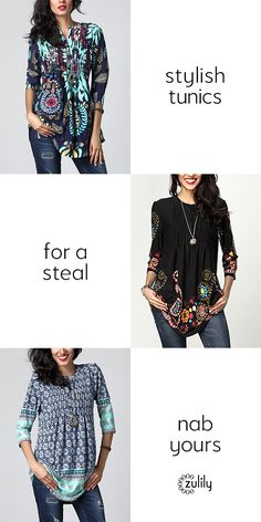 Sign up to save up to 70% off tunics at zulily.com. Give your everyday ensembles that special pop with these tunics offering an extra dash of color. If subtle neutrals are more your style speed, there are plenty of soft-spoken picks here too.