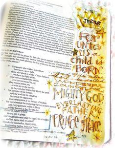 Created by; Dawn Emmott - Bible Journaling, Bible art journaling