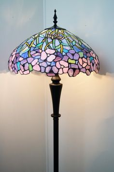 20 Gorgeous High Quality Stained Glass Rose Style Tiffany Floor Lamp