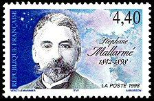 Stéphane Mallarmé 1842-1898 - Timbre de 1998