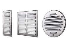Stainless Steel Air Vent Grille with Fly Screen / Metal Duct Ventilation Cover Grille Metal, Air Vent Covers, Extractor Fans, Louvre, E Bay, Blinds, Stainless Steel, Wall, Brushes