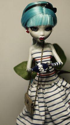 Monster High Lagoona Blue Custom with Glass Eyes