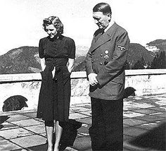 Hitler with his lover, Eva Braun, on the Berghof terrace on Easter Sunday, They were a couple for almost 15 years, but there are less than 100 photographs which show them together. World History, World War Ii, Ww2 History, Military History, Historia Universal, The Third Reich, Battle Of Britain, Second World, Luftwaffe
