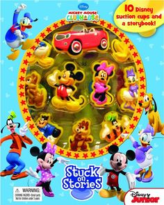 DISNEY Mickey Mouse CLUBHOUSE STUCK ON STORIES 10 Character NEW Storybook…
