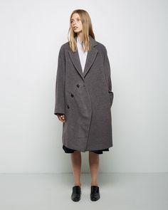 J.W. Anderson  Rounded Raglan Sleeve Coat | La Garçonne $1560