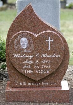 Singer Whitney Houston died tragically in a hotel bathtub after consuming disabling substances. Houston's grave is located next to her father John Houston's resting place at Fairview Cemetery in Westfield, New Jersey
