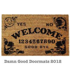 Ouija Style Board Doormat | Community Post: 15 Handmade Halloween Items You Can Enjoy All Year