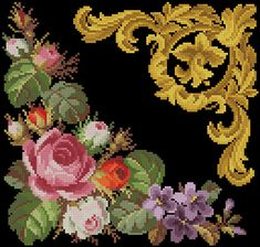 Gallery.ru / Фото #50 - Старинная вышивка. Готовые перенаборы - s1a2v3o4l5