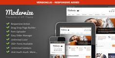 """Modernize"" is a responsive Wordpress theme for businesses."