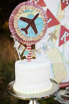 Airplane Vintage Flying Birthday Party Theme