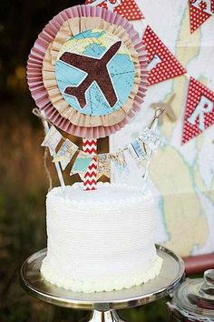 Airplane Vintage Flying Birthday Party Theme