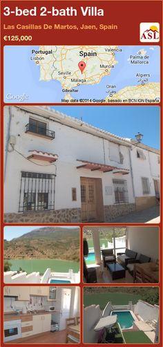 3-bed 2-bath Villa in Las Casillas De Martos, Jaen, Spain ►€125,000 #PropertyForSaleInSpain