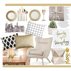 gold details by gold-candle23 on Polyvore featuring interior, interiors, interior design, home, home decor, interior decorating, Palecek, Pier 1 Imports, UGG Australia and Unison