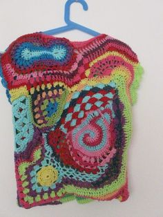 freeform top for my daughter (back) Hippie Crochet, Freeform Crochet, Irish Crochet, Crochet Yarn, Knit Crochet, Crochet Ideas, Crochet Projects, Knitting Patterns, Crochet Patterns