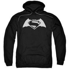 Batman v Superman Simple Logo Adult Hoodie