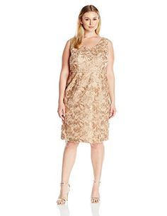 Brianna Women's Plus-Size Fringed Floral Embellished Dress with Beaded Waistband