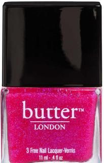 butter LONDON - Hot Pink Glitter Nail Polish – Disco Biscuit. Perfect for summer toes!