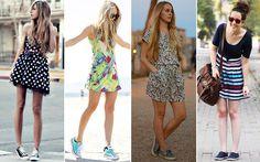 Quer combinar o tênis com aquele vestido estampado bapho do guarda-roupa? Se joga! Na dúvida, escolha uma cor da parte de cima e leve-a para os pés.