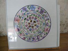 voorjaar in 3 technieken. aquarel, acryl en aquarelpotlood. afm 50x50 inclusief aluminium lijst. te koop voor 125 euro