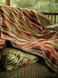 Decken häkeln bunt polyrattan möbel auf veranda resized