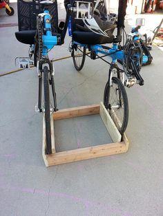 Homemade bike stand wood build a bike rack out of wood wooden plans how bicycle stand racks for enchanting diy wood bike repair stand Diy Bike Rack, Bicycle Storage, Bicycle Rack, Homemade Bike Stand, Small Wooden Crates, Bike Repair Stand, Bicycle Stand, Wood Bike, Build A Bike