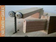 Enredando no garaxe cómo cortar espigas de madera con la sierra de calar de mesa. Pero antes de cortar una espiga hay que marcar la forma, y para eso utilizo...