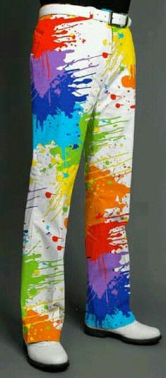 Color splash golf pants made by Loud Mouth