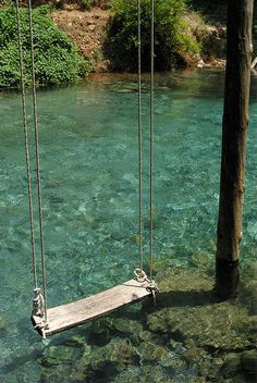 Awesome place to have a swing. Super endroit où placer une balançoire ! ♥