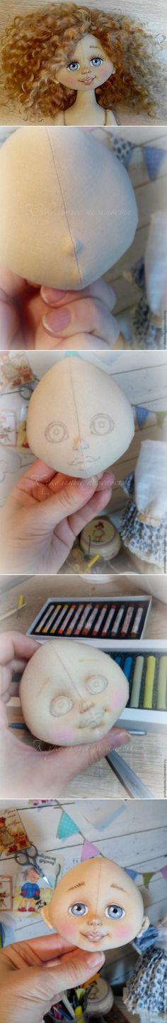 Как сделать объёмное личико текстильной кукле - Ярмарка Мастеров - ручная работа, handmade