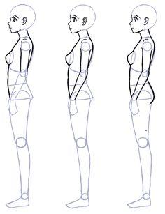 Como dibujar de perfil cuerpo completo