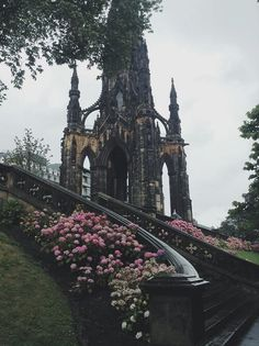 Scott Monument at Princes Street Gardens, Edinburgh, Scotland