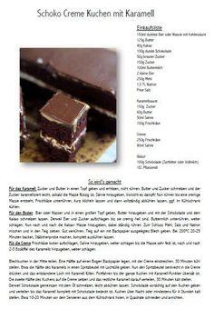 Schoko Creme Karamell Kuchen - Chocolate Caramel Cake