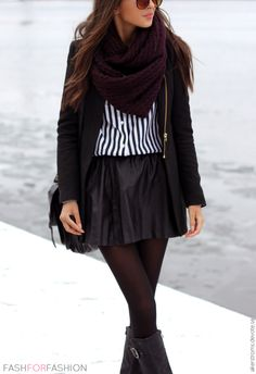 How to properly rock a skirt during Fall.
