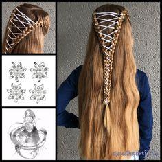Half updo corset braid with ribbon and a beautiful curlie from the webshop www.goudhaartje.nl (worldwide shipping).  #hair #easter #easterbraid #easterhair #corsetbraid #haar #vlecht #vlechten #curlies #hairstyle #braid #braids #hairstylesforgirls #plait #trenza #peinando #beautifulhair #gorgeoushair #stunninghair #hairaccessories #hairinspo #braidideas #amazinghair #halfupdo #longhair #longhairdontcare #goudhaartje