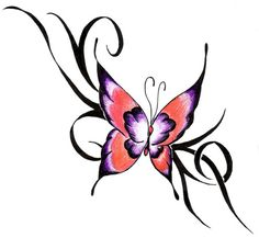 Popular Butterfly tattoo design for women , very pretty butterfly