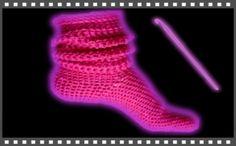 Socken häkeln lernen kostenlose Video Häkelanleitung