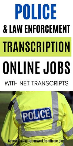 Work from Home Law Enforcement and Police Transcription Jobs with Net Transcripts. This transcription company is hiring work from home general transcriptionists for remote insurance transcription jobs. This transcription company recruits law enforcement transcriptionists to transcribe criminal investigations, internal affairs, and various law enforcement audios. Legit Work From Home, Legitimate Work From Home, Work From Home Jobs, Make Money From Home, How To Make Money, Medical Transcription Jobs, Transcription Training, Transcription Jobs For Beginners, Typing Jobs From Home