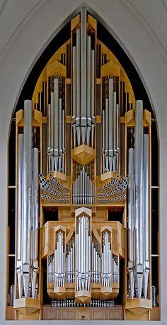 Hallgrimskirkja Pipe Organ, Reykjavik, Iceland