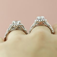 Two-Tone Engagement Ring or just one - the details on this design are perfection.
