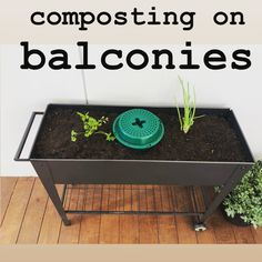 Composting on balconies is possible with Go Eco Compost Buckets, all you need is a garden stand, a couple of bags of soil, some herb cuttings and a Go Eco Compost Bucket in the middle. You can reduce around 40% of your food waste and have a nutrient rich herb garden. 🌱 All You Need Is, Herb Garden, Vegetable Garden, Compost Bucket, Eco Store, Garden Stand, Organic Soil, Food Waste