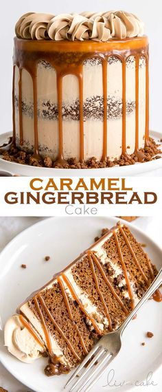 Low Unwanted Fat Cooking For Weightloss The Classic Gingerbread Cake Gets A Delicious Makeover Gingerbread Cake Layers And Caramel Buttercream Paired With Gingerbread Streusel And Homemade Caramel. Köstliche Desserts, Delicious Desserts, Dessert Recipes, Fall Cake Recipes, Cupcakes, Cupcake Cakes, Christmas Desserts, Christmas Baking, Holiday Cakes